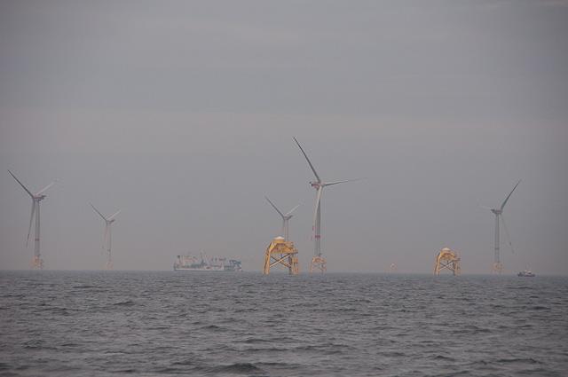 Windpark im Bau