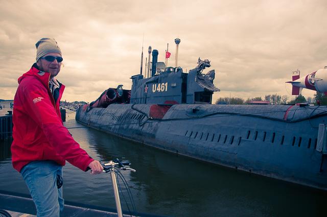 Russisches U-Boot im Südhafen Peenemünde
