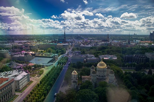 Riga aus der Vogelperspektive